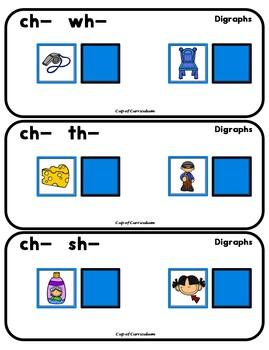 PHONICS TILES: DIGRAPHS BUNDLE