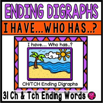 DIGRAPHS ENDING with CH ENDINGS GAME SET