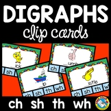 DIGRAPH ACTIVITIES (PHONICS CLIP CARDS) BEGINNING DIGRAPHS CENTER