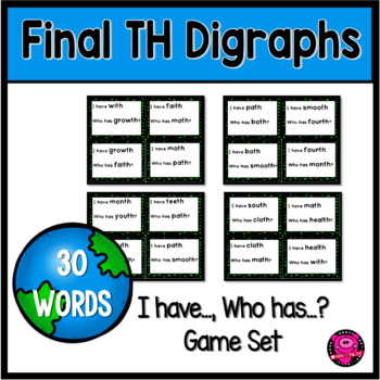 I have who Has Th Ending Digraphs Game