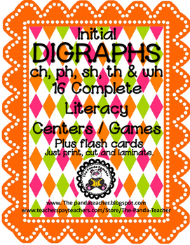 DIGRAPHS - Initial CH, PH, SH, TH and WH