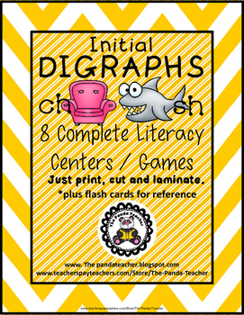 DIGRAPHS - Initial CH and SH Literacy Centers