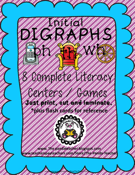 DIGRAPHS - Initial PH, TH and WH Literacy Centers