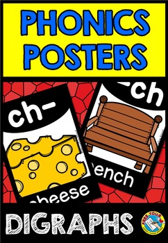 DIGRAPHS POSTERS: BEGINNING + ENDING DIGRAPHS: BACK TO SCHOOL CLASS DECOR