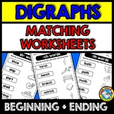 CONSONANT DIGRAPHS WORKSHEETS (MATCHING WORD WORK ACTIVITY GRADE 1, KINDERGARTEN