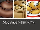 DIM SUM Menu Math- Adding Decimals