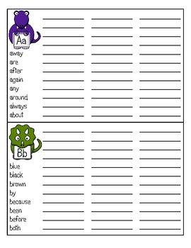 DINO-Mite Words! Dinosaur Theme Sight Word Book or Trick Word Book