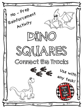 DINO SQUARES, Connect the Tracks Reinforcement Activity
