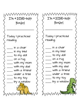 DINO-mite Reader Bookmark