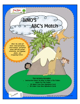 DINO'S ABC MATCH FILE FOLDER