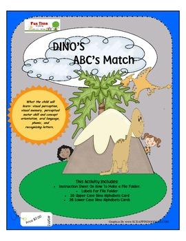 DINO'S ABC MATCH FILE FOLDER