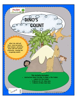 DINO'S COUNT FILE FOLDER GAME