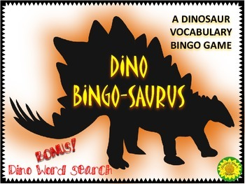 DINOSAUR BINGO & WORDSEARCH