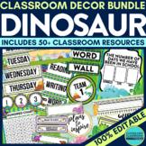 DINOSAUR THEME Classroom Decor EDITABLE