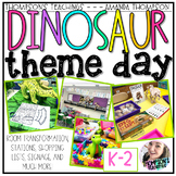 DINOSAUR Theme Day Room Transformation and Centers