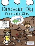 DINOSAUR DIG Dramatic Play Center (PALEONTOLOGIST)