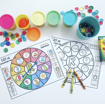 SPEECH WHEELS speech therapy worksheets MIXED GROUPS EASY PREP & NO PREP