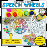 SPEECH WHEELS speech therapy worksheets MIXED GROUPS EASY