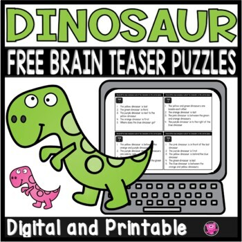 Dinosaur Theme Logical Reasoning Mini Activity Freebie