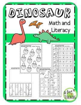 DINOSAUR Math & Literacy Bundle