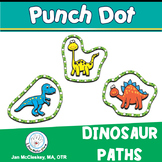 DINOSAUR PATH PUNCH DOTS FOR FINE MOTOR SKILLS AND PENCIL GRASP