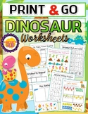 DINOSAUR PRE-K WORKSHEETS PACKET by: Learner's Hub! Distance Learning from home