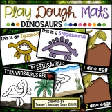 DINOSAUR Play Dough Mats --- 22 Picture Mats and 10 Counting Mats 1-10