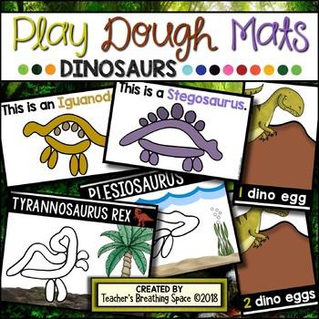 DINOSAUR Play Dough Mats --- 22 Picture Mats and 10 Counting Mats 1-10