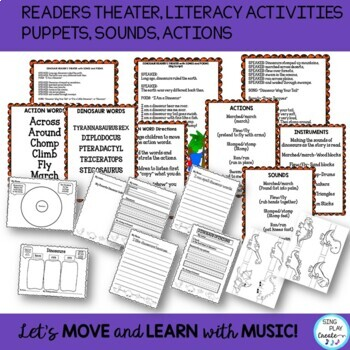 Dinosaur Songs and Poems -Readers Theater, Action Story, and Literacy Activities