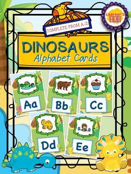 DINOSAUR THEME ALPHABET CHART | CARDS