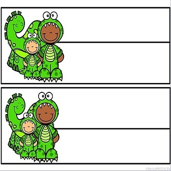 Dinosaurs Name Plates and Word Wall Cards