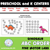 Dinosaur Alphabet Activities for Fine Motor Centers.
