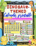 DINOSAUR THEMED PRINTABLE CALENDAR CLASSROOM DECOR by Learner's Hub