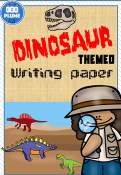 DINOSAUR THEMED WRITING PAPER - COLORBOOK BORDERS