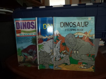DINOSAUR THINGS TO DO  COLORING BOOKS    (SET OF 3)