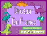 DINOSAUR Ten Frame Clip Art {T-Rex Brontosarus} 0-10 Common Core Math Aid