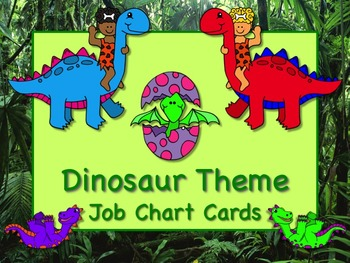 DINOSAUR Theme Job Chart Cards/Signs  Great for Classroom