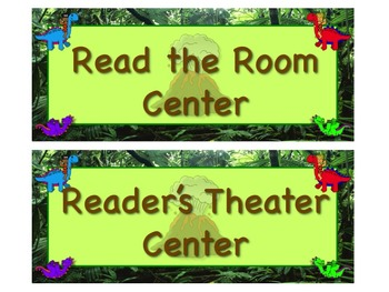 DINOSAUR Themed Station/Center Signs  Great Classroom Management! DINO-mite!