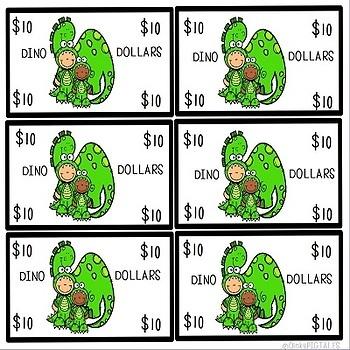 Dinosaurs Classroom Decor and Dramatic Play Money