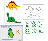 DINOSAURS ACTIVITIES NUMBER BONDS COUNTING LETTERS GAMES S