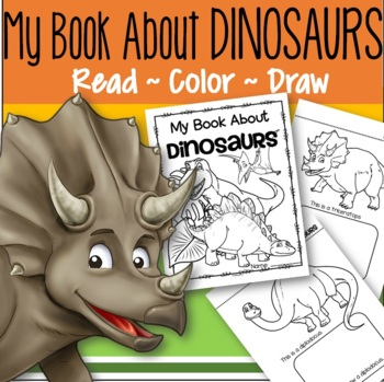 dinosaurs activity printables for preschool read color and draw make a book - How To Draw Printables