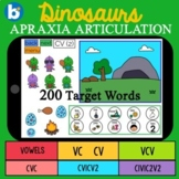 DINOSAURS Apraxia Deck: BOOM Cards for SPEECH TELETHERAPY