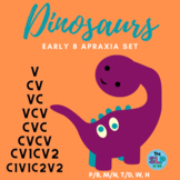 DINOSAURS Apraxia Set: Speech Therapy for Early Sounds and Syllable Sequences