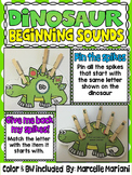 DINOSAURS-BEGINNING SOUNDS CENTER- Pin The Spikes on the Stegosaurus