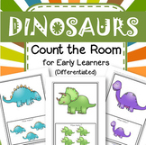 DINOSAURS Count the Room for Preschool and Pre-K - 4 Different Recording Pages