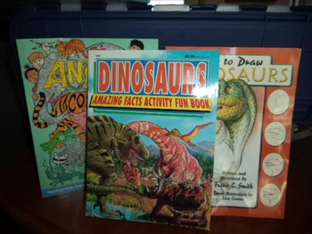 DINOSAURS DRAWING  FACTS  COLORING  (SET OF 3)