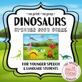 DINOSAURS: Digital Sticker Book Scene for Speech and Langu