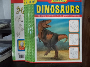 DINOSAURS  ETC       LEARN TO DRAW      (SET OF 6)