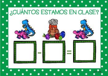 DINOSAURS Go to School List / Pasar LISTA ALUMNOS (Español)