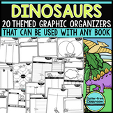 DINOSAURS  Graphic Organizers for Reading Reading Graphic Organizers